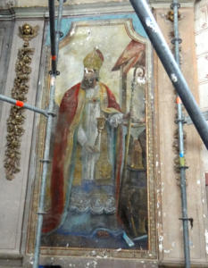 14- Villexanton  peinture avant restauration (cliché Alexandra Mignot)