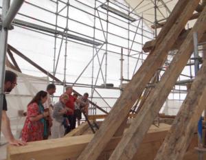 15- Restauration de toute la charpente de l'église de Villexanton (cliché Alexandra Mignot)