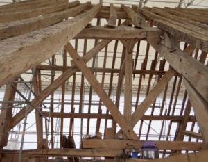16- Restauration de toute la charpente de l'église de Villexanton (cliché Alexandra Mignot)