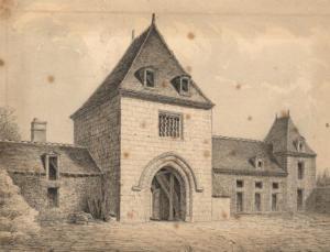 05- Porte d'entrée de l'ancien château de Fargot par Gervais Launay (Albums Launay, bibliothèque de Vendôme)