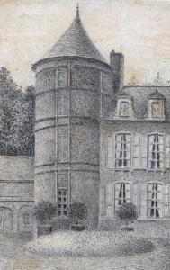 14- Tour d'angle par Gervais Launay (Albums Launay, bibliothèque de Vendôme)