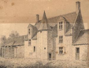22-La Chevalinière en 1850 par Gervais Launay (Albums Launay, bibliothèque de Vendôme)