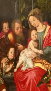 22-La sainte famille tableau du XVII